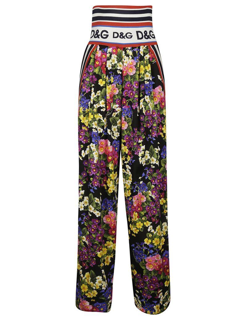 Dolce & Gabbana Logo Waistband Trousers - Hnpfior. Nero