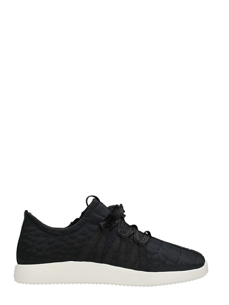Black Sneakers With Quilted Effect