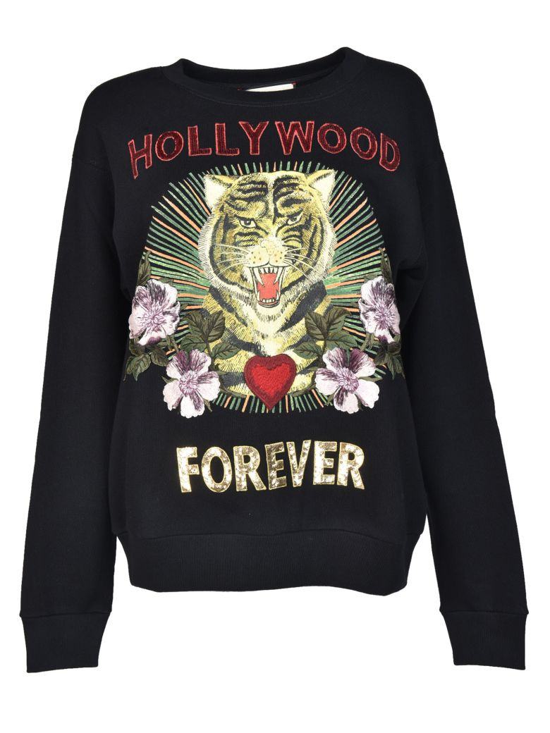 Gucci Hollywood Forever Embroidered Sweatshirt - Black