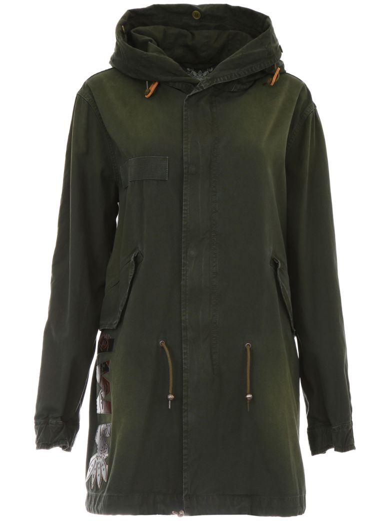PARKA WITH LOGO PATCHES