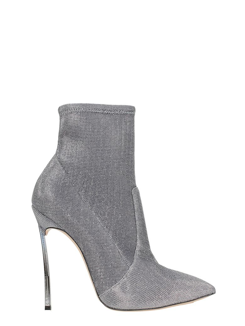 BLADE SILVER GLITTER ANKLE BOOTS