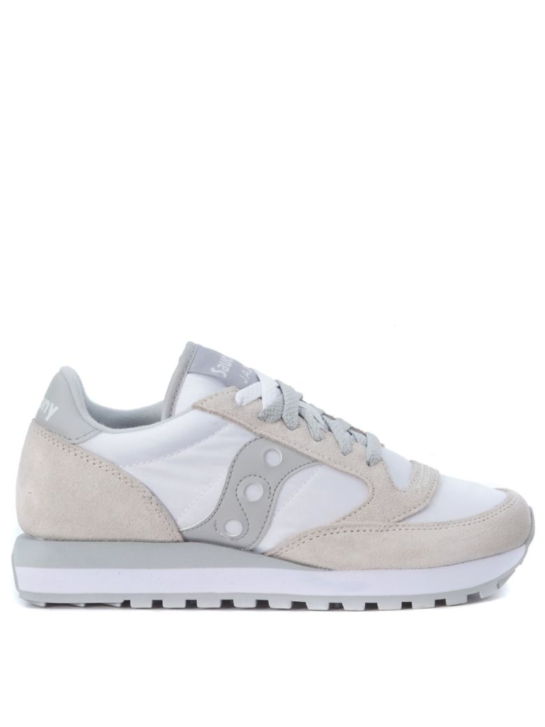 JAZZ SNEAKER IN SUEDE AND WHITE NYLON