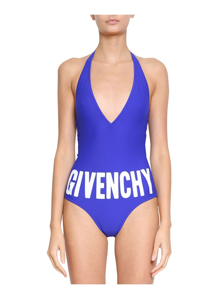 fa80c32849cca Givenchy One Piece Logo Swimsuit In Blu
