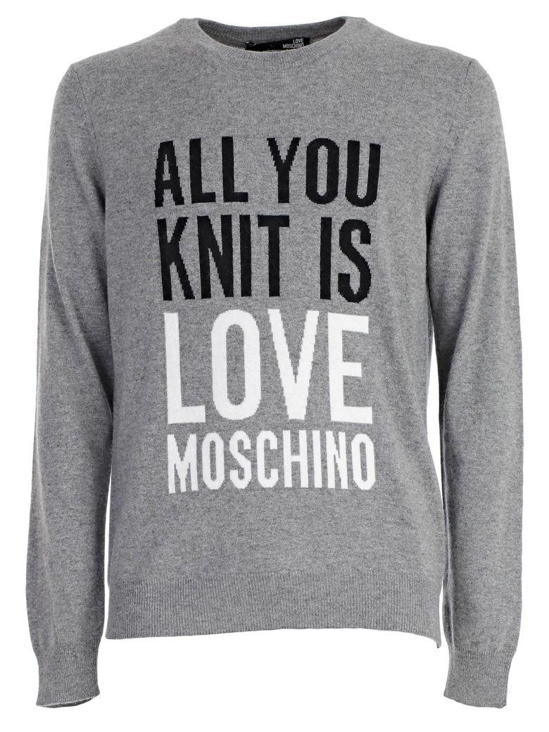 LOVE MOSCHINO Knitted Sweatshirt in Grey