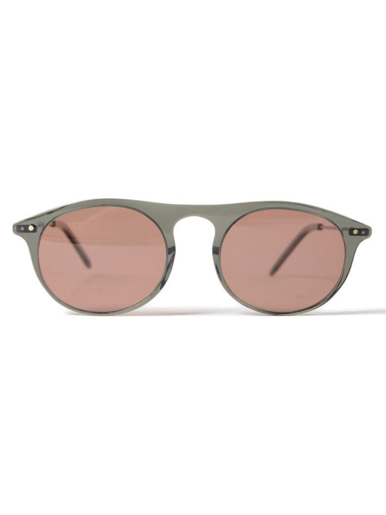 DELIRIOUS Round Frame Sunglasses in Ash Fin