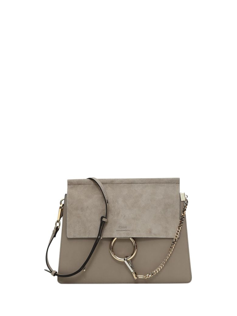 LEATHER AND SUEDE FAYE SHOULDER BAG