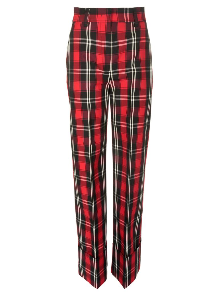 MSGM CHECKED TROUSERS