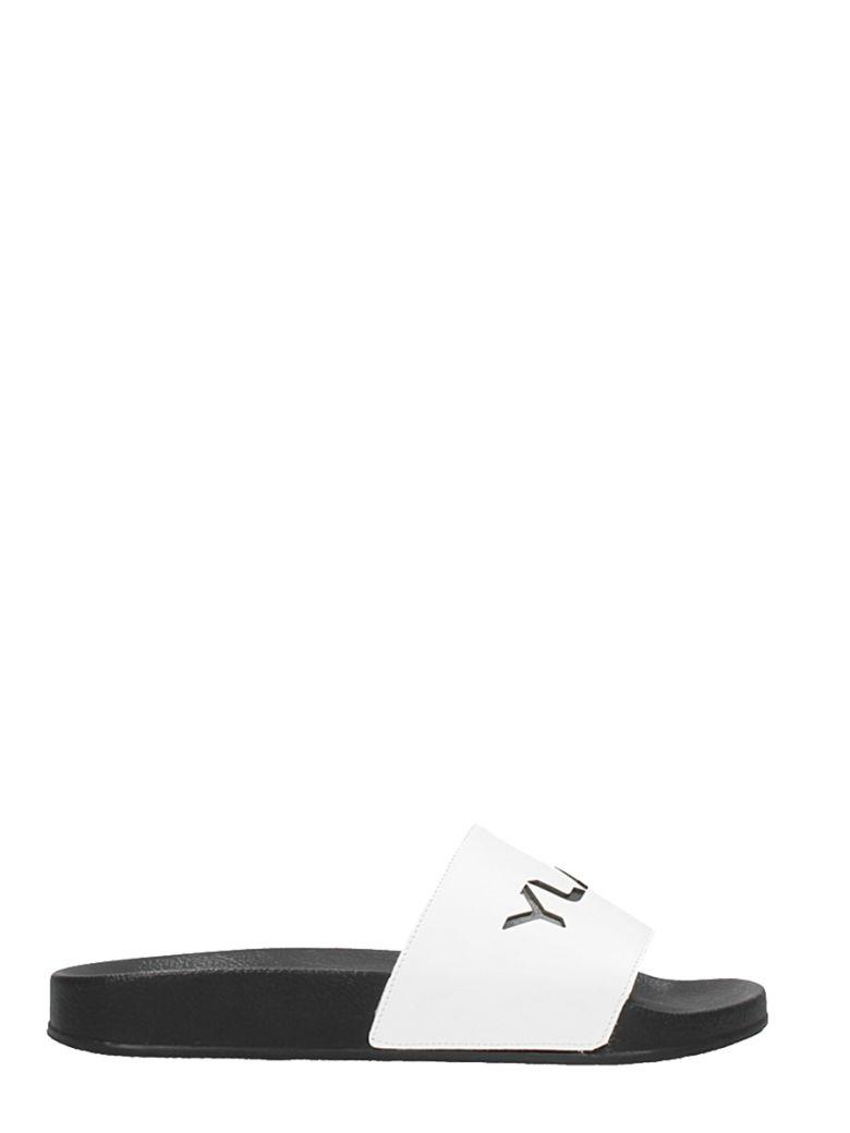 YLATI FOOTWEAR WHITE RUBBER FLATS SANDALS
