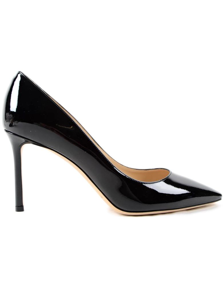 Women'S Romy 100 Patent Leather High-Heel Pointed Toe Pumps in Black