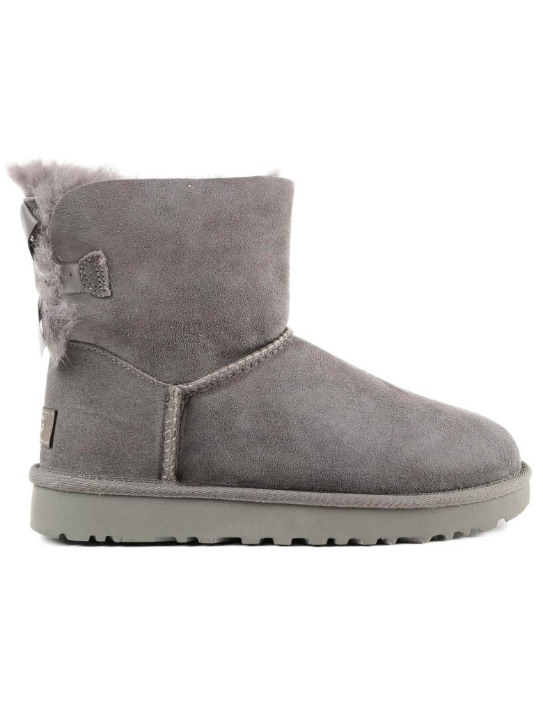 Mini Bailey Boots With Bow Detail in Grey