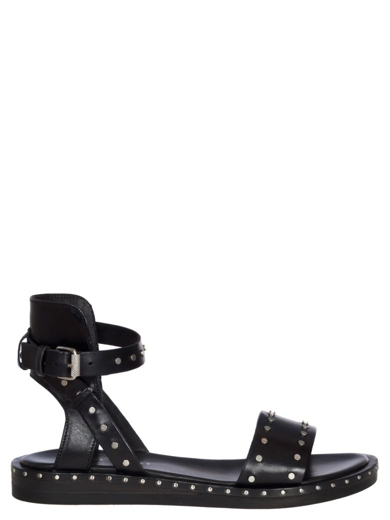 STUDS LEATHER SANDALS