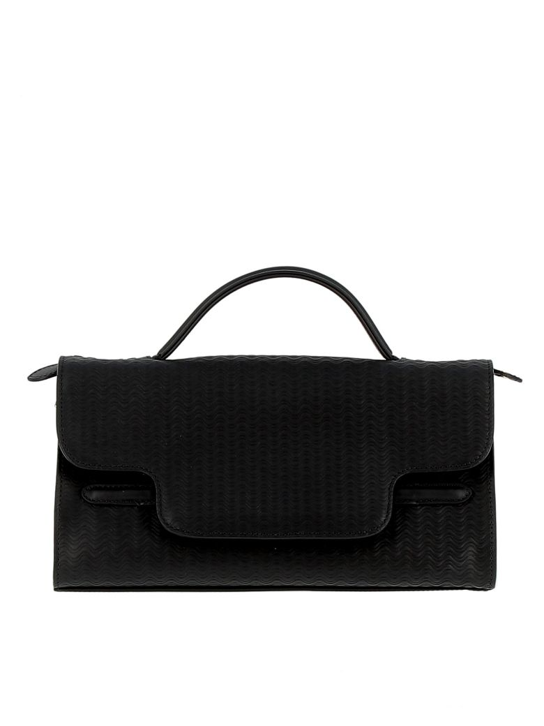 zanellato nero leather handbag