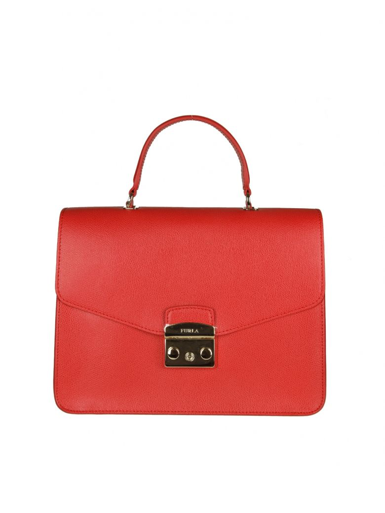 METROPOLIS M HAND BAG IN RED LEATHER