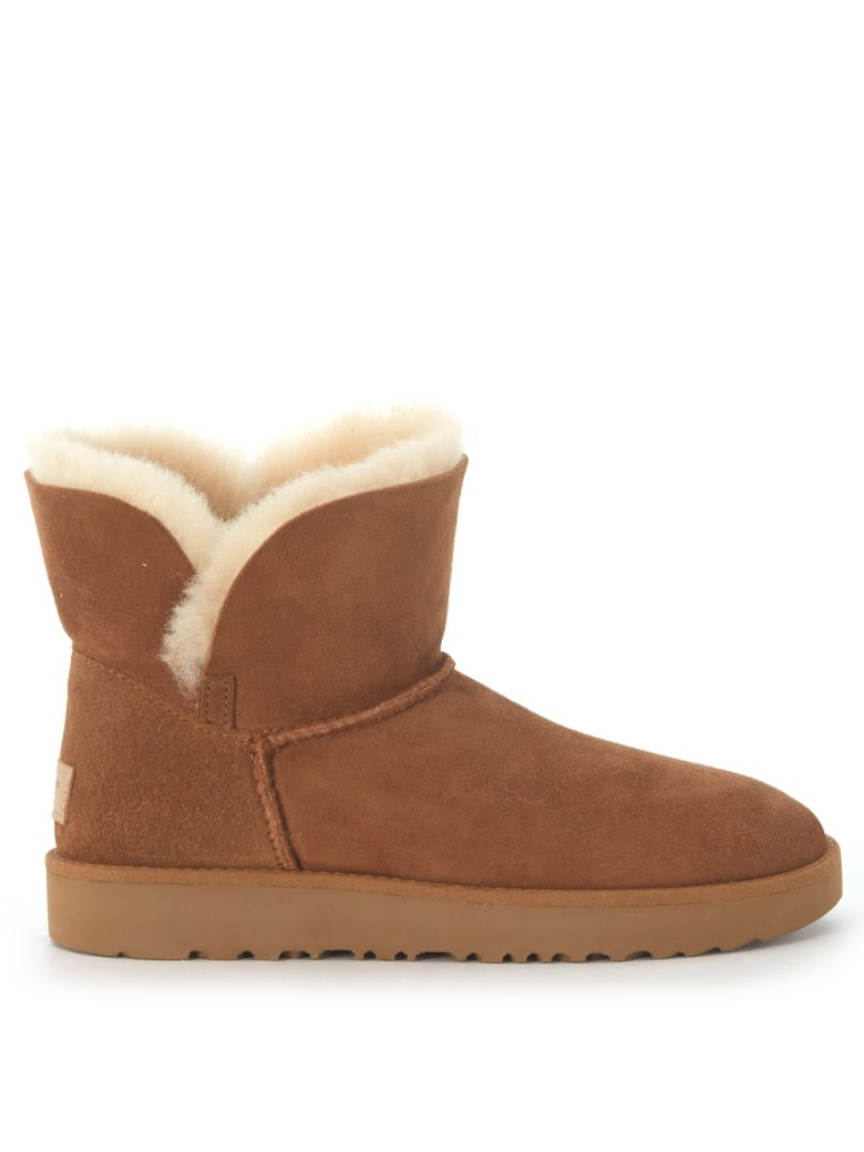UGG Classic Cuff Mini Ankle Boots In Leather Suede Cheap Best Wholesale Outlet Choice Big Sale Sale Low Price Fee Shipping For Sale Cheap Price From China nnyPDbv64H