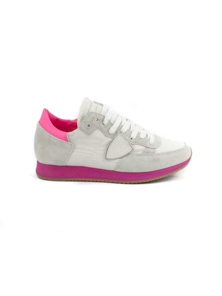 Philippe model White And Fuxia Suede And Nylon Tropez Sneakers Purchase NEqjRtEDs