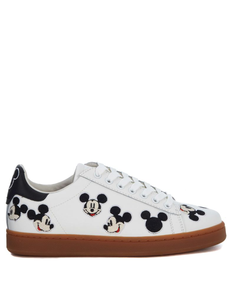 M.O.A. MOA MICKEY MOUSE WHITE LEATHER SNEAKER