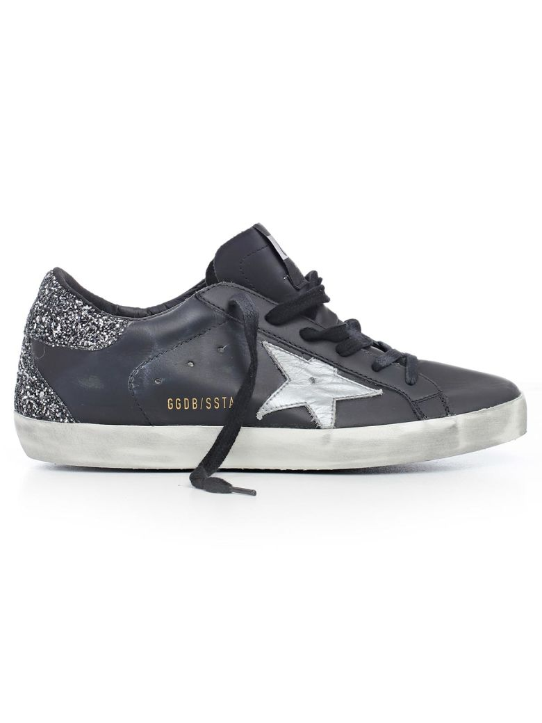 5b5a7920877 Golden Goose Deluxe Brand Glittery Superstar Sneakers In Hblack Silver  Glitter