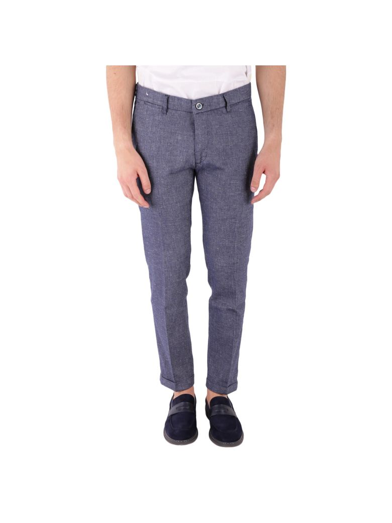 RE-HASH COTTON AND LINEN TROUSERS
