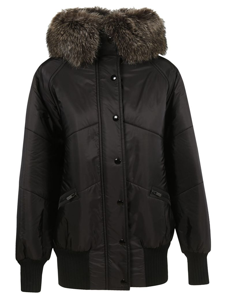 KNITTED FUR COLLAR PARKA