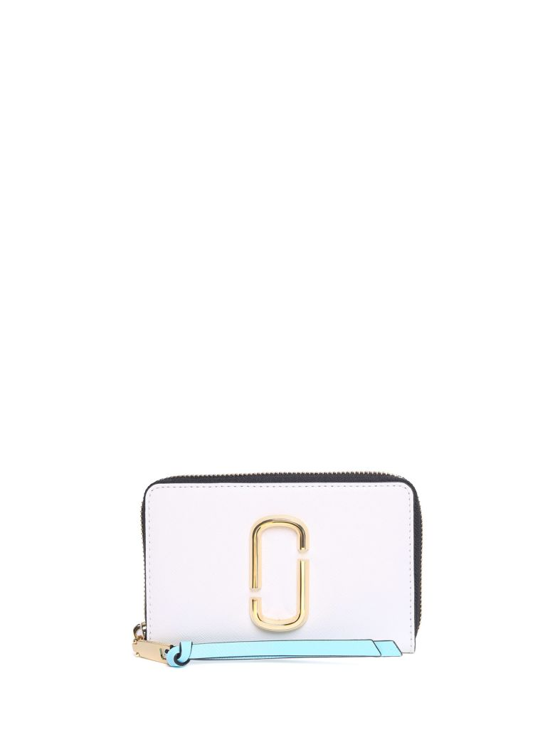 SNAPSHOT COLOR-BLOCK SAFFIANO-LEATHER COMPACT WALLET