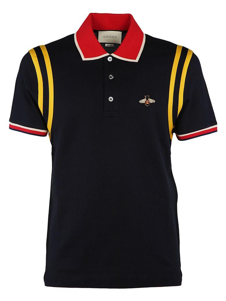 c97e68aabb33 GUCCI Bee Motif Polo Shirt