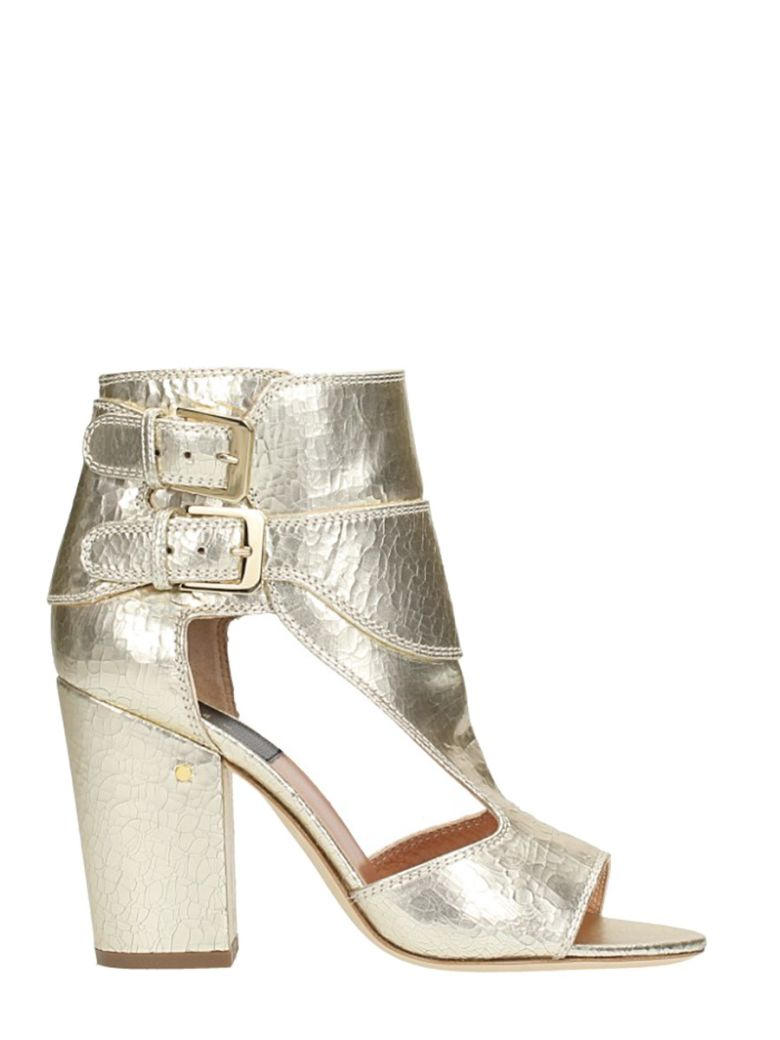 RUSH LAMINATED PLATINUM LEATHER SANDALS