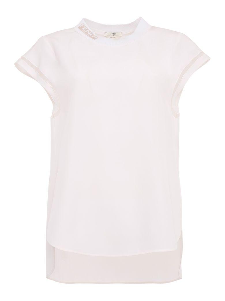 Fendi Crepe Top - WHITE Bianco
