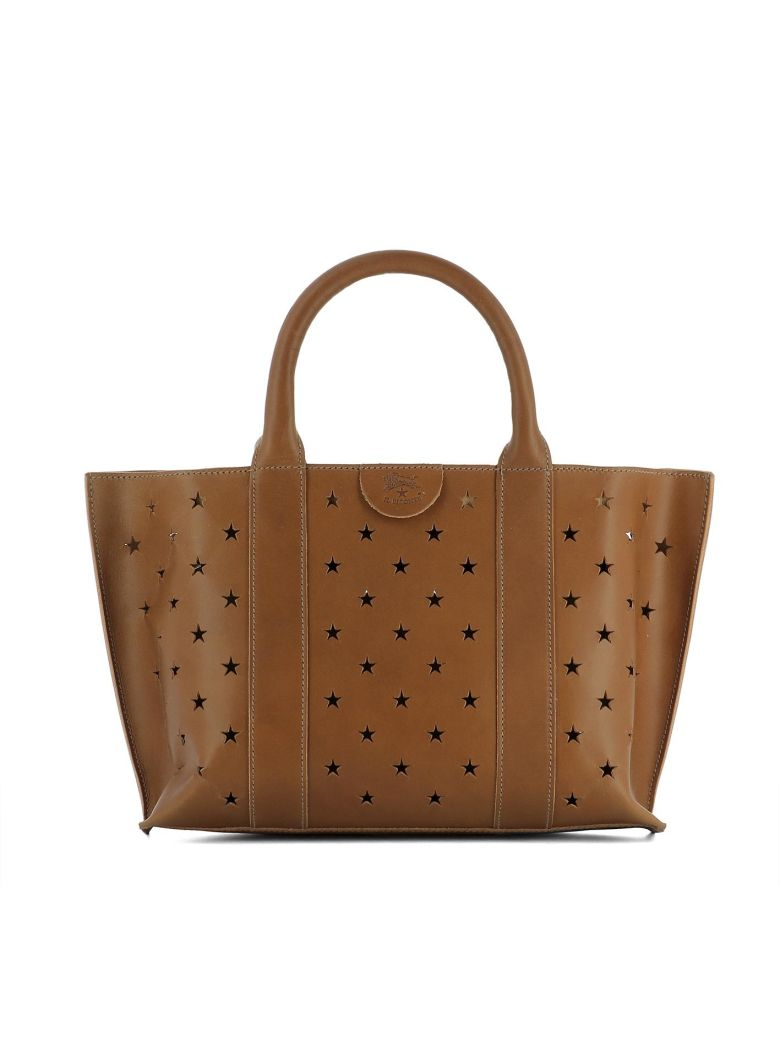 Il Bisonte BROWN LEATHER HANDLE BAG