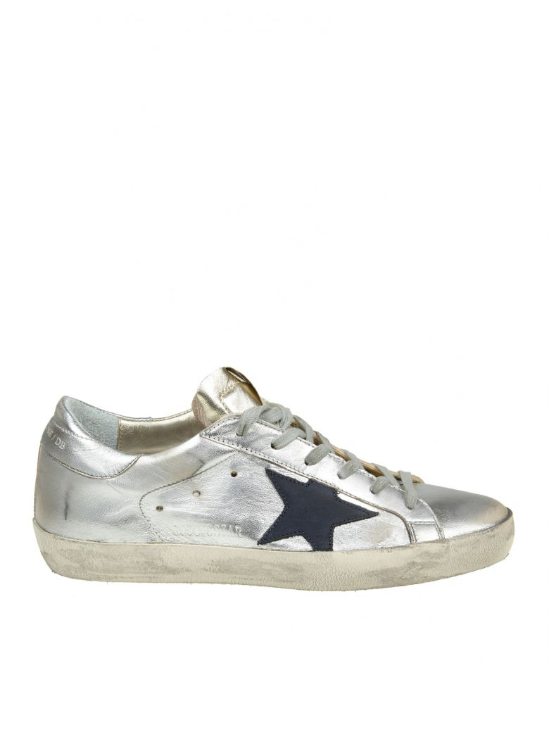 SUPERSTAR SNEAKERS IN PLATINUM - SILVER LEATHER