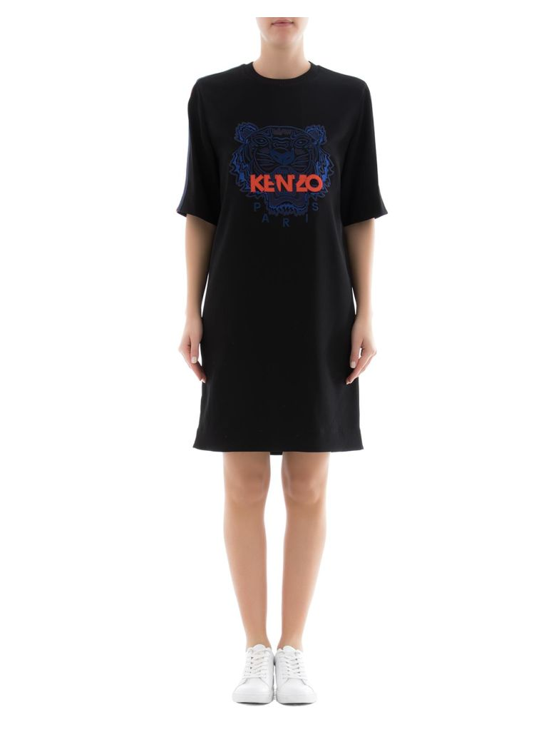 Kenzo  BLACK TRIACETATE DRESS