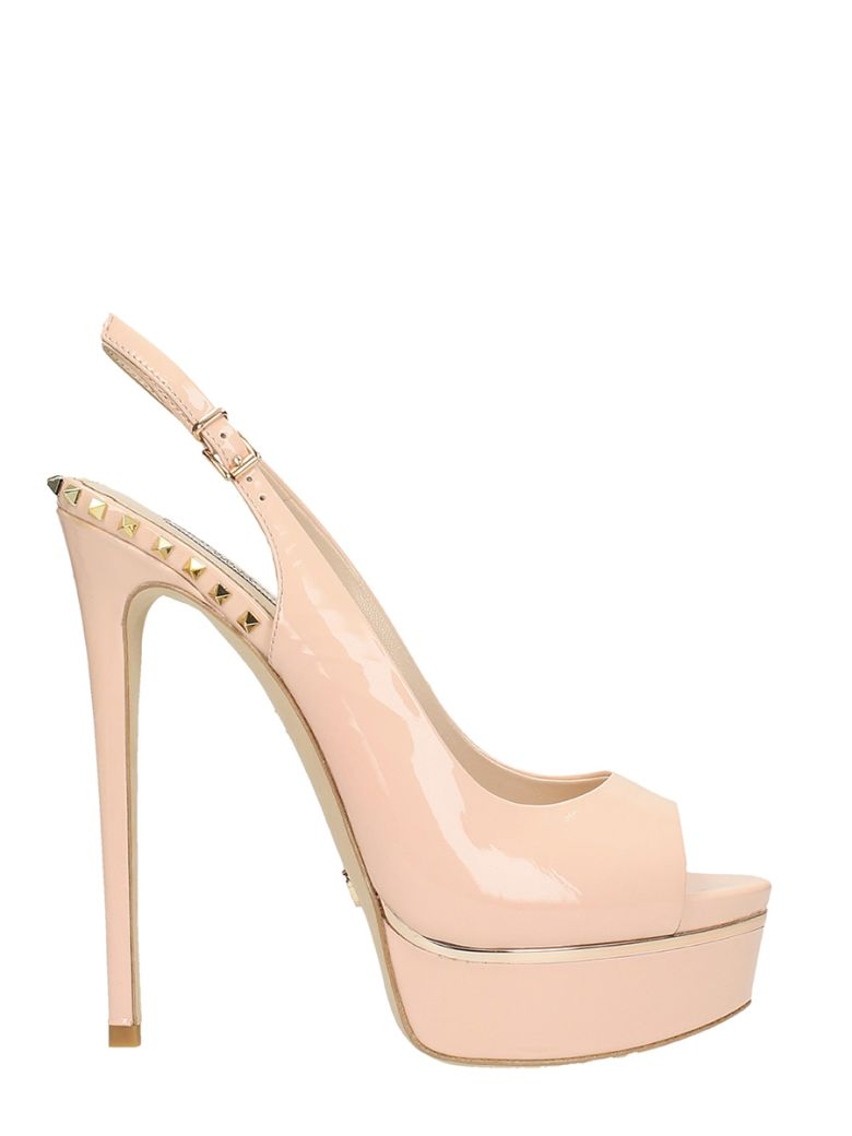 GIANNI RENZI CHANEL SANDAL IN NUDE PATENT LEATHER