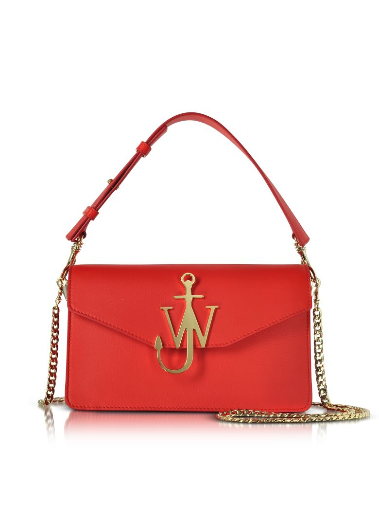 JW ANDERSON SCARLET RED LOGO PURSE