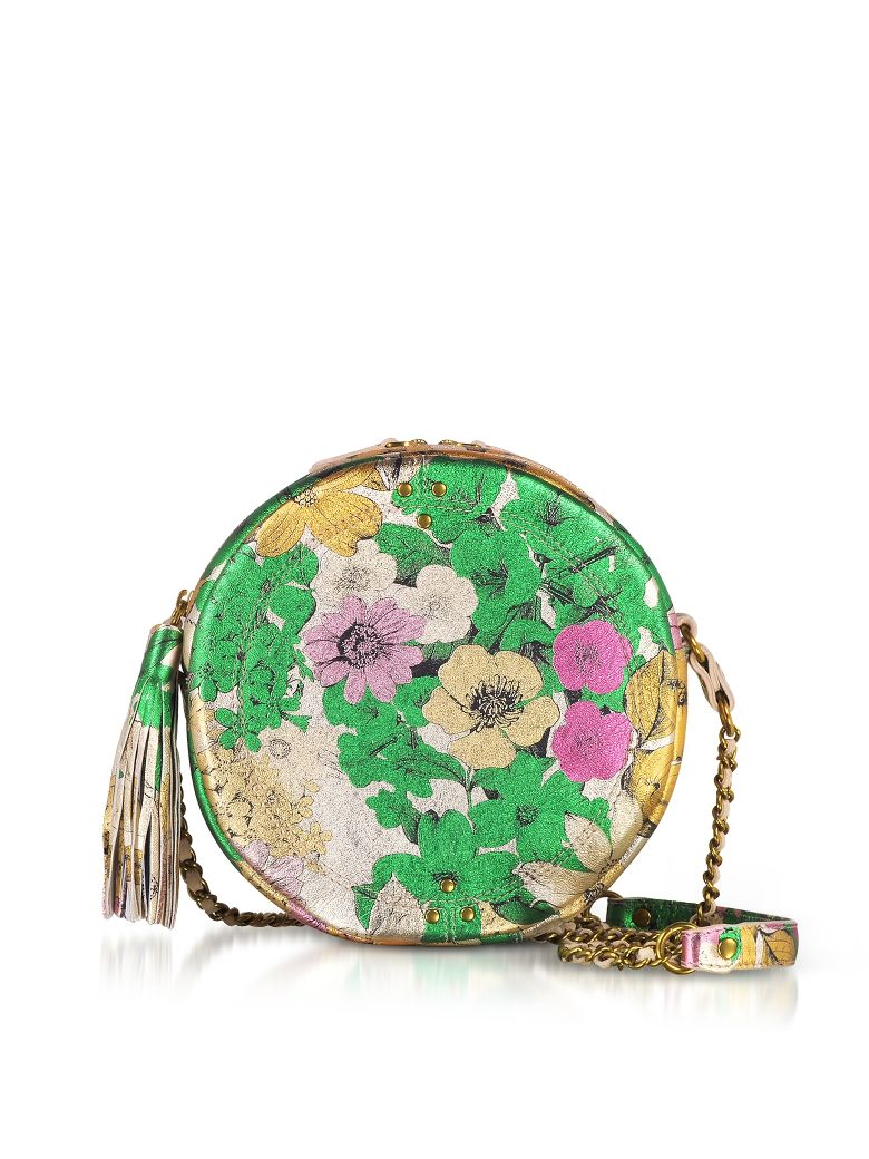 Remi Tahiti Laminated Round Shoulder Bag in Multicolour