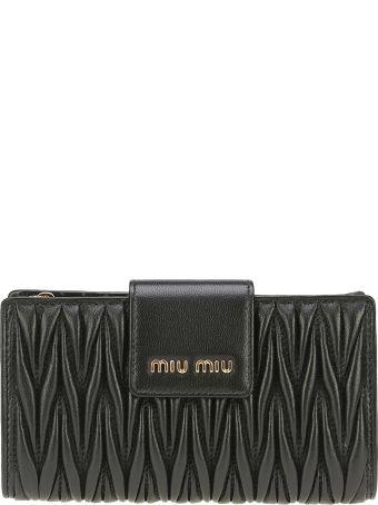 Miu Miu Portafoglio Con Tramezza Logo Miu Miu