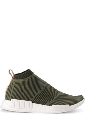 Adidas Originals Nmd_cs1 Green Knit And Leather Sneaker