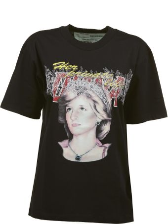 Off White Lady Diana Print T-shirt