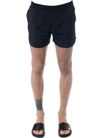 Ami Alexandre Mattiussi Ami Coeur Black Swim Shirts
