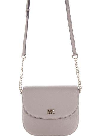 MICHAEL Michael Kors Grey Mott Dome Shoulder Bag In Leather