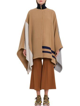 Chloé Contrast Poncho Coat
