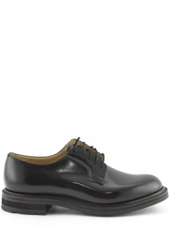 Church's Black Smooth Leather Derby Shoes.
