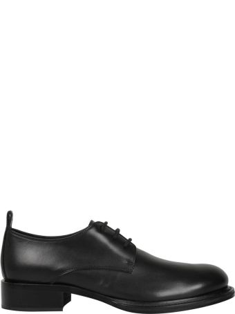 Ann Demeulemeester Black Leather Derby Shoes