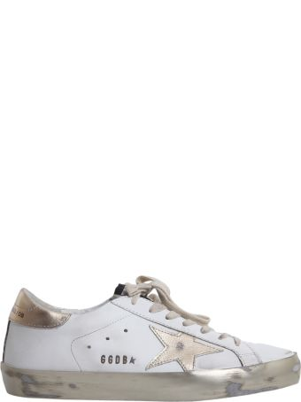 Womens White & Black Cheap Adidas Superstar Foundation Trainers schuh