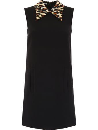 Miu Miu Jacquard Leopard Mini Dress