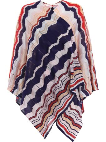Missoni Wave Print Wrapped Cape