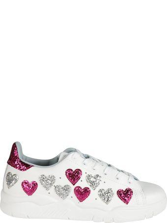 Chiara Ferragni Embellished Heart Sneakers