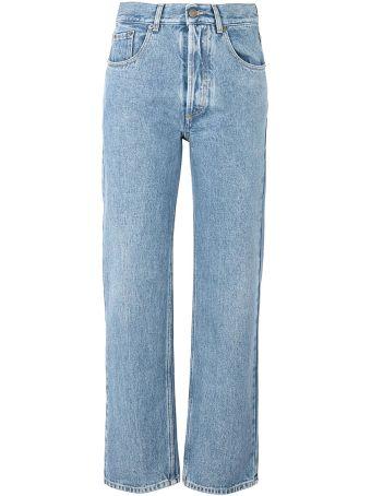 Maison Margiela Spit-leg Cotton-denim Mid-rise Jeans