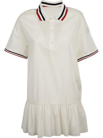 Moncler Gamme Contrast Trim Polo Shirt Dress