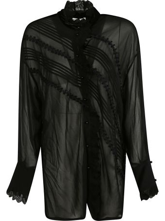 Philosophy di Lorenzo Serafini Lace Trim Sheer Blouse