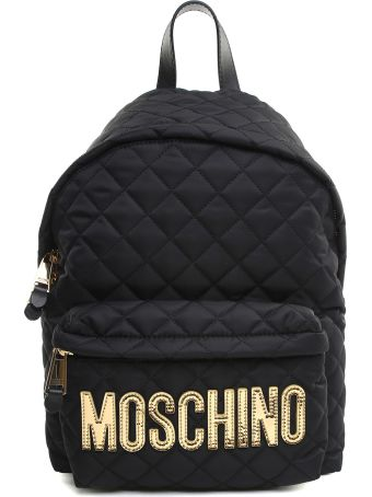 Moschino Logo Quilted-nylon Backpack