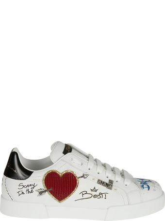 Dolce & Gabbana Embellished Studs Sneakers